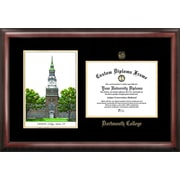 Campus Images NCAA Dartmouth College Gold Embossed Diploma w/ Campus Images Lithograph Picture Frame