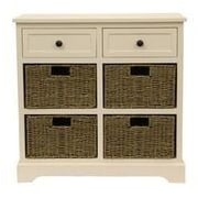 Decor Therapy Montgomery 6 Drawer Chest; White