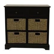 Decor Therapy Montgomery 6 Drawer Chest; Black