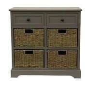 Decor Therapy Montgomery 6 Drawer Chest; Eased edge gray