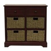 Decor Therapy Montgomery 6 Drawer Chest; Antique Red