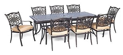 Hanover Traditions 9 Piece Dining Set w/ Cushion WYF078278473284