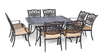Hanover Traditions 9 Piece Dining Set w/ Cushion WYF078278473285
