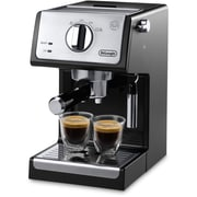 DeLonghi 15 Bar Pump Coffee/Espresso Maker; Black/Stainless Steel