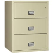Phoenix Safe International 3-Drawer Fireproof File Cabinet; Putty