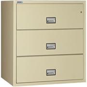 Phoenix Safe International 3-Drawer Fireproof Key Lock File Safe; Putty