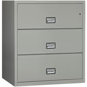 Phoenix Safe International 3-Drawer Fireproof Key Lock File Safe; Gray