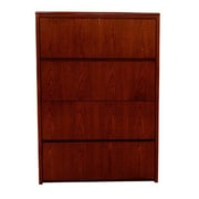 Carmel Furniture Waterfall Series 4 Drawer Lateral File; Mahogany
