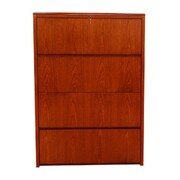 Carmel Furniture Waterfall Series 4 Drawer Lateral File; Cherry