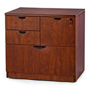 WIS Furniture Group 4-Drawer Combo Lateral File; Cherry