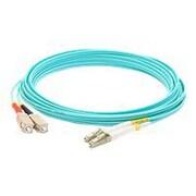 AddOn 10m LC (Male) to SC (Male) Aqua OM4 Duplex LSZH LOMM Patch Cable