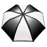 "Natico Gradient Umbrella 58"" Arc Black and White (60-122-BK-WH)"