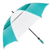 "Natico Vented Typhoon Tamer Umbrella 62"" Arc Teal and White (60-30-TL-WH)"
