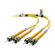 Belkin™ F2F80200-03M 10' ST Male/Male Single-Mode Fiber Optic Duplex Patch Cable, Yellow