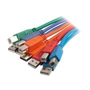 C2G 35679 6.56' USB Male/Male Data Transfer Cable, Multicolor