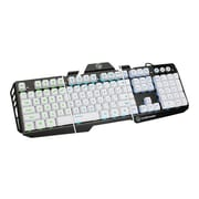 Iogear® Kaliber HVER GKB704L USB 2.0 Wired Gaming Keyboard, Imperial White