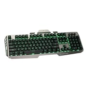 Iogear® Kaliber HVER GKB704L USB 2.0 Wired Gaming Keyboard, Black/Gray