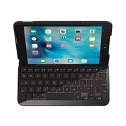 Logitech® 920-007953 Focus Synthetic Weave Protective Case with Integrated Keyboard for Apple iPad mini 4, Balck