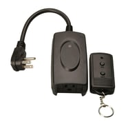 Woods 32555 Outdoor Weatherproof Wireless Remote Control with 3-Conductor Outlet, Black
