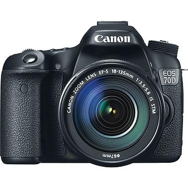 Canon® EOS 70D 20.2 MP Digital SLR Camera Kit With 18 - 135 mm Lens, Black