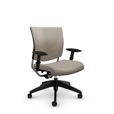 GlobalMD – Chaise ergonomique Graphic (2739 MT20), tissu assorti désert, brun clair