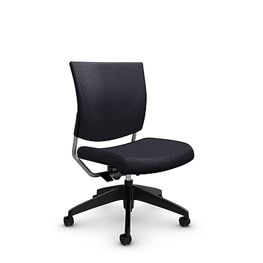 Global® (2737 MT31) Graphic Posture Armless Chair, Match Quarry Fabric, Grey