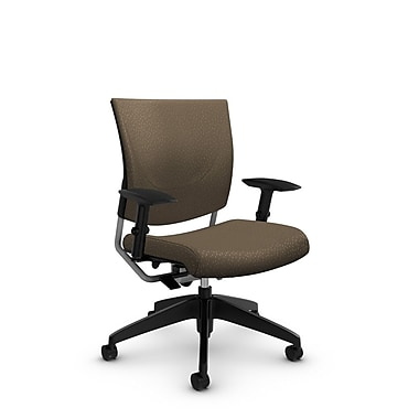 Global® (2739 MT21) Graphic Posture Chair, Match Sand Fabric, Brown