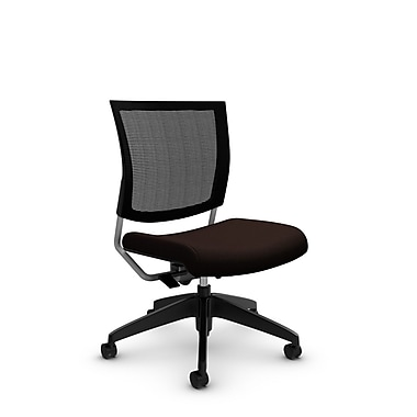 GlobalMD – Chaise sans bras spécialisée en maille Graphic (2736MB IM80), tissu imprimé noyer, brun
