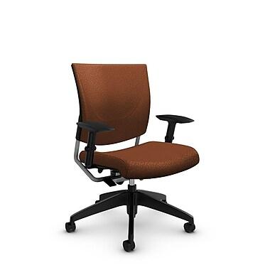 GlobalMD – Chaise ergonomique Graphic (2739 MT24), tissu assorti coucher du soleil, orange