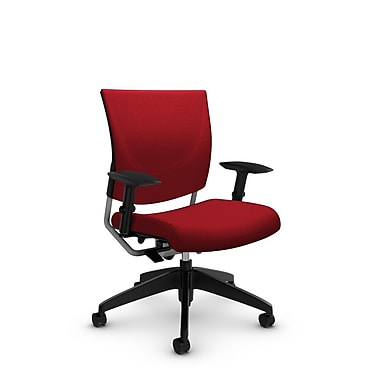 Global® (2739 IM74) Graphic Posture Chair, Imprint Candy Apple Fabric, Red