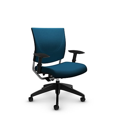 Global® (2739 IM76) Graphic Posture Chair, Imprint Navy Fabric, Blue