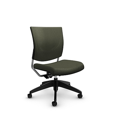 Global® (2737 MT22) Graphic Posture Armless Chair, Match Moss Fabric, Green