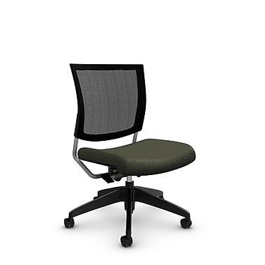 Global® (2736MB MT22) Graphic Mesh Posture Armless Chair, Match Moss Fabric, Green