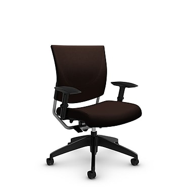 Global® (2739 IM80) Graphic Posture Chair, Imprint Walnut Fabric, Brown