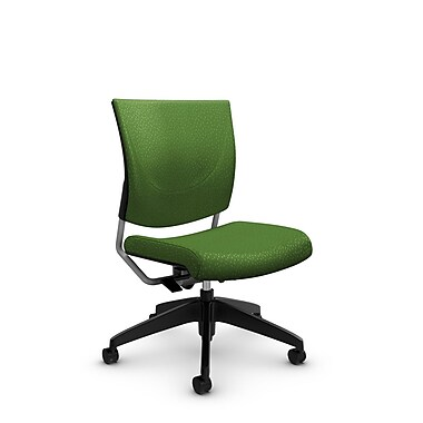 Global® (2737 MT27) Graphic Posture Armless Chair, Match Green Fabric, Green