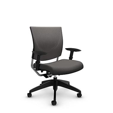 Global® (2739 IM82) Graphic Posture Chair, Imprint Graphite Fabric, Grey