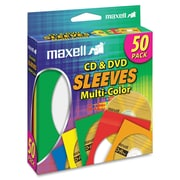 Maxell Multicolour CD/DVD Sleeves, Pack of 50