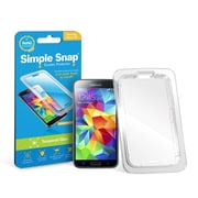 Simple Snap® Tempered Glass Screen Protector for Samsung Galaxy S5 High Definition (HD) Tempered Glass