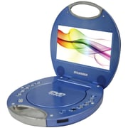 "Sylvania 7"" Portable DVD Players With Integrated Handle (blue)"
