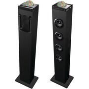 Sylvania Disco Ball Tower Bluetooth Speaker Dock With USB & FM Radio