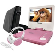 "Sylvania 7"" Swivel-screen Portable DVD Players (pink)"