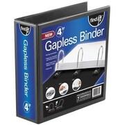 """Find It® Heavy Duty Flat View Binder, 4"""", Black (FT07074)"""