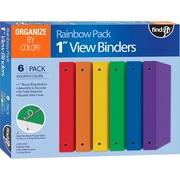"Find-It DIY View Binder, 1"", 6 Binder Sets/Pack, Assorted Colors (FT07310)"