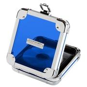 "Vaultz® Locking CD Wallet, 2.5"" x 6.25"" x 7"", 24 CD Capacity, Acrylic Blue (VZ00100)"