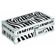 "Vaultz® Locking Pencil Box, 5.5"" x 8.25"" x 2.5"", Zebra (VZ00189) (Lock and Key Combination)"