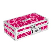 "Vaultz® Locking Pencil Box, 5.5"" x 8.25"" x 2.5"", Bubble Heart (VZ00190)"