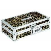 "Vaultz® Locking Pencil Box, 5.5"" x 8.25"" x 2.5"", Cheetah (VZ00191)"