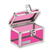"Vaultz® Locking 3"" x 5"" Index Card Box, Pink Acrylic (VZ00203)"