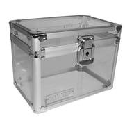 "Vaultz® Locking 4"" x 6"" Index Card Box, Clear Acrylic (VZ00210)"