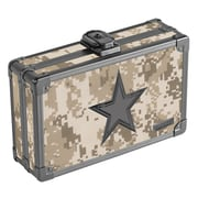 "Vaultz® Locking Pencil Box, 5.5"" x 8.25"" x 2.5"", Camo with Black Star (VZ00271)"
